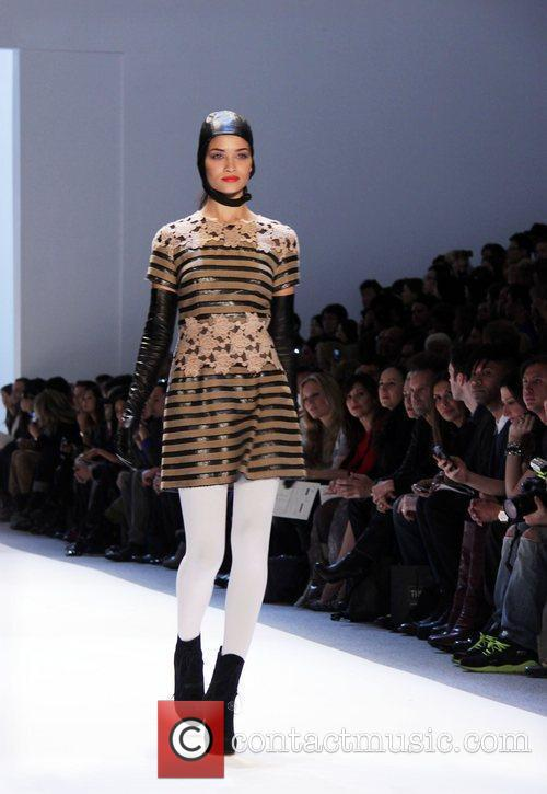 Model Mercedes-Benz Fashion Week Fall 2012 - Charlotte...