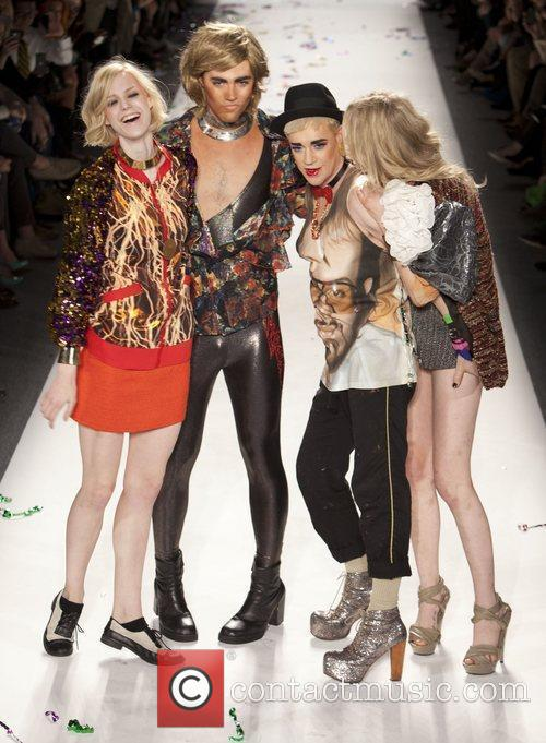 Richie Rich and Models Mercedes-Benz Fashion Week Fall...