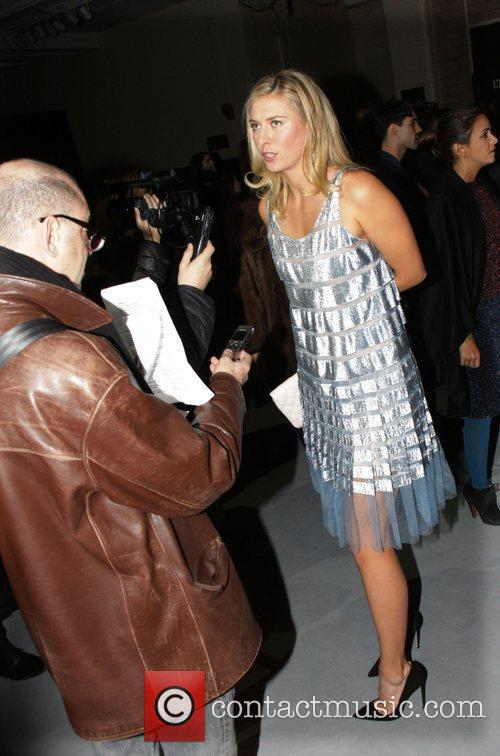 Maria Sharapova  Mercedes-Benz Fashion Week Fall 2012...