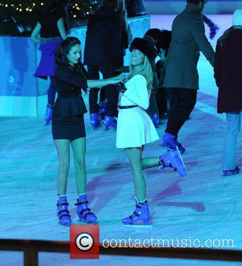 Kimberley Garner takes to the ice, at the...