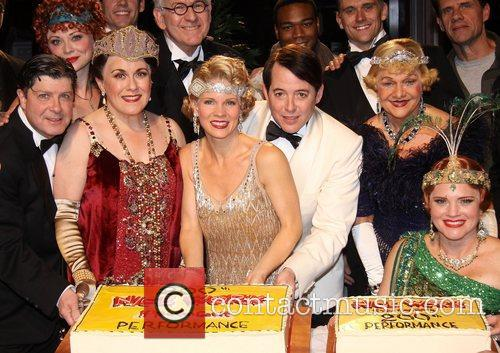 Michael Mcgrath, Kristen Beth Williams, Judy Kaye, Kelli O, Hara, Matthew Broderick, Grasan Kingsberry, Estelle Parsons, Jennifer Laura Thompson, Backstage, Broadway, Nice Work If You, Can Get It, Imperial Theatre. New York, City and Imperial Theatre 3