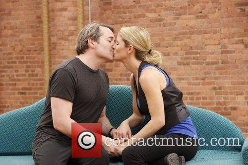 Press rehearsal for the new Broadway musical comedy...