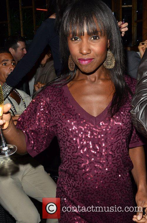 Michelle Gayle Nick Ede's New Year's Eve party...