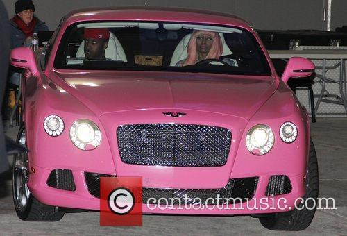 Nicki Minaj is seen leaving the Grammy nominations...