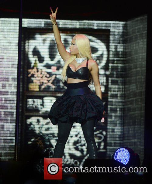 Nicki Minaj performs live at the O2 Arena...
