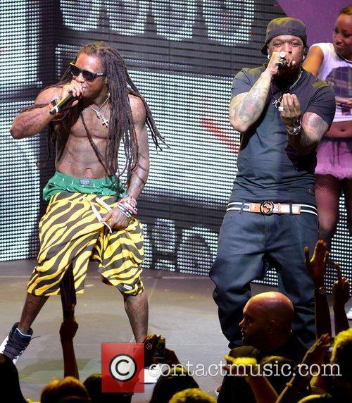 Lil Wayne and Birdman performing live on the...