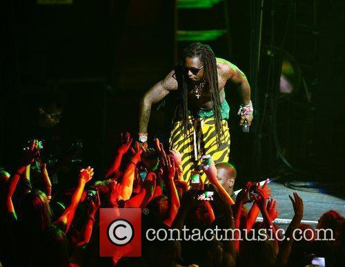 Lil Wayne performing live on the Nicki Minaj Tour at James L Knight Center Miami, Florida