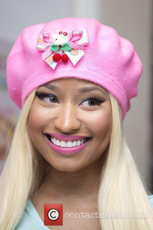 Signs copies of her new album 'Pink Friday:...