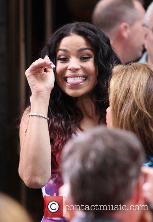 Nicki Minaj performs live at Rockerfeller Plaza as...
