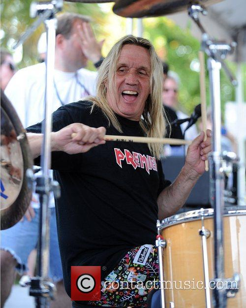 nicko mcbrain of iron maiden performs during 5819802