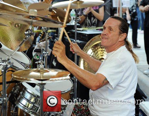 nicko mcbrain performs at a welcome home 4125806