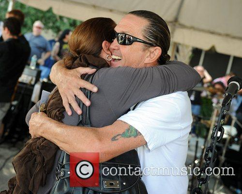 nicko mcbrain performs at a welcome home 4125812
