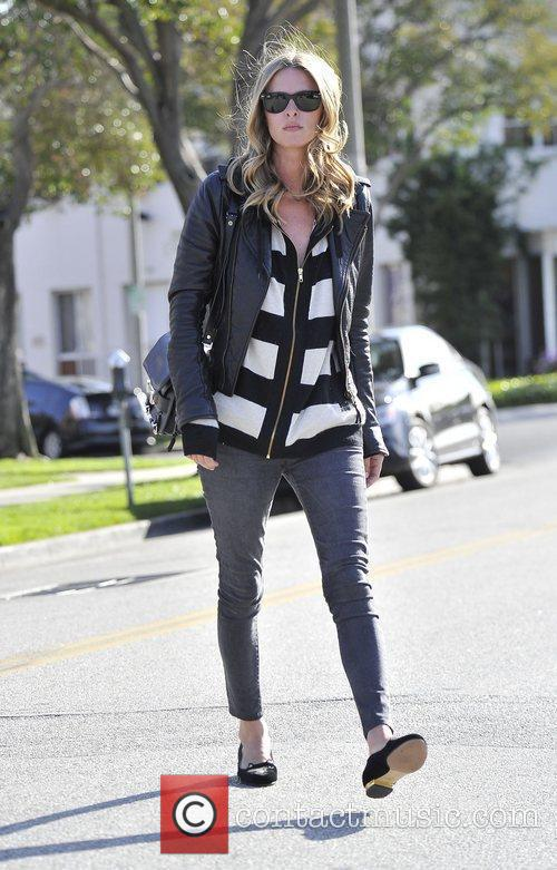 Nicky Hilton walking in Beverly hills wearing a...