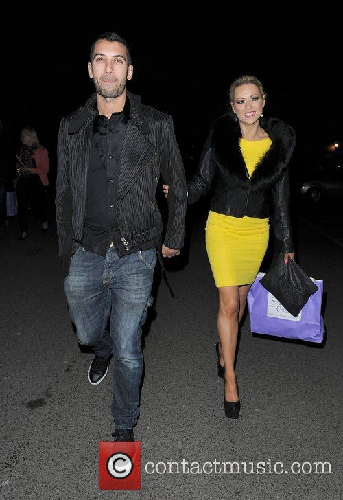 Nicola McLean and her husband Tom Williams out...