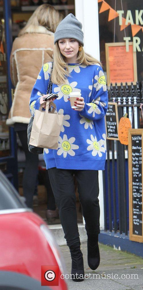 Nicola Roberts  leaving a coffee shop in...