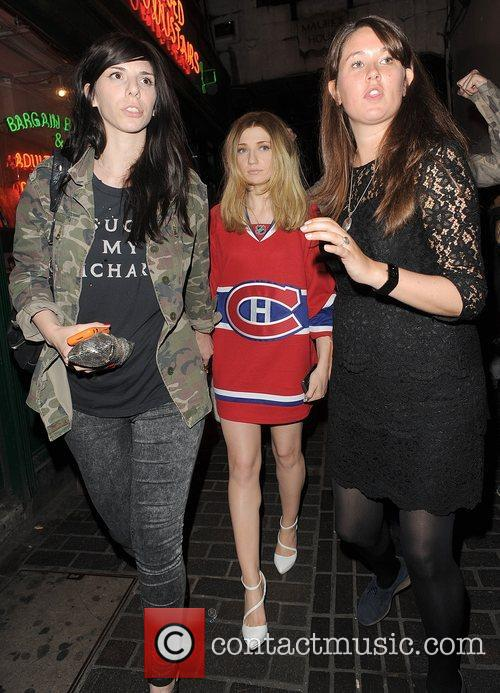 Nicola Roberts appears rather unsteady on her feet...