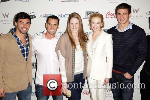 Missy Franklin, Nicole Kidman, Merrill Moses and Ricky Berens 3