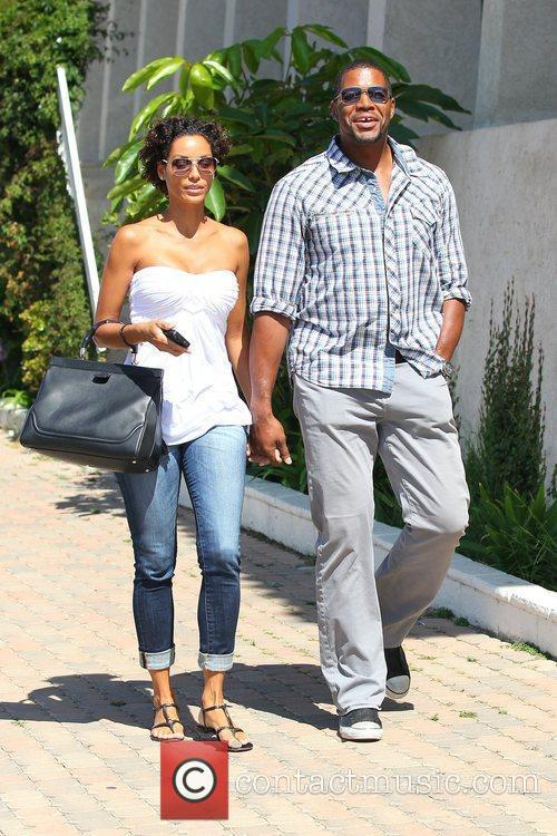 Nicole Murphy and Michael Strahan out and about...