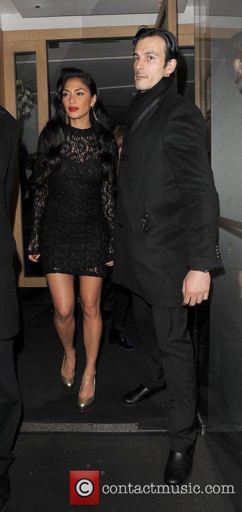 Nicole Scherzinger leaving Nobu restaurant in Mayfair London,...
