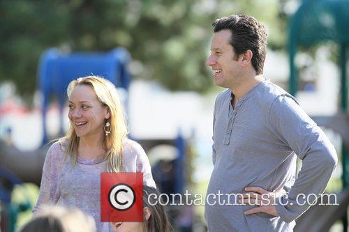 Nicole Sullivan and her husband Jason Packham enjoy...