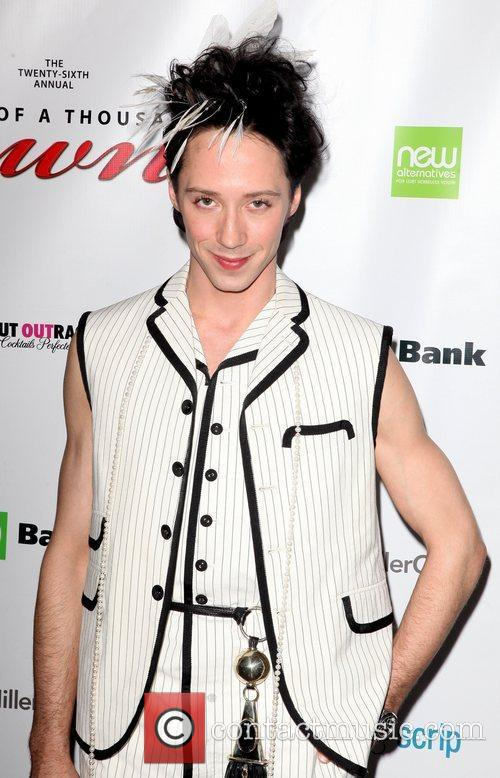 Johnny Weir and Times Square 1