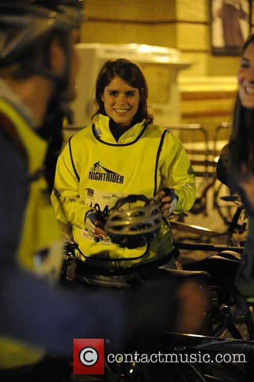 Princess Eugenie at the start of the Nightrider...