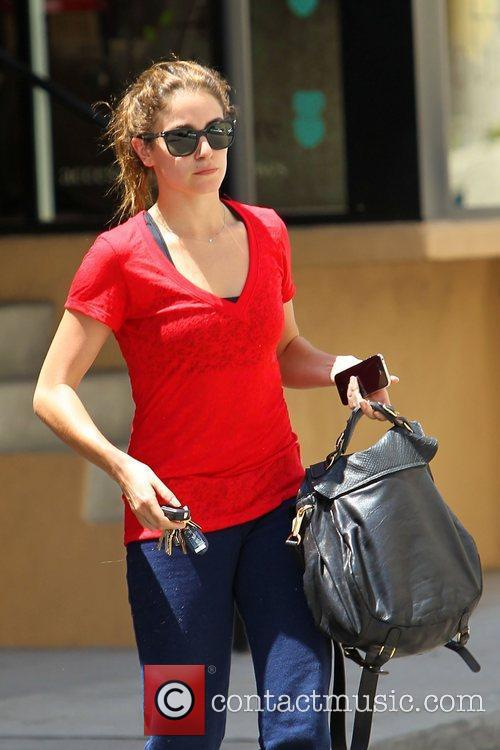 Nikki Reed is seen leaving the gym in...