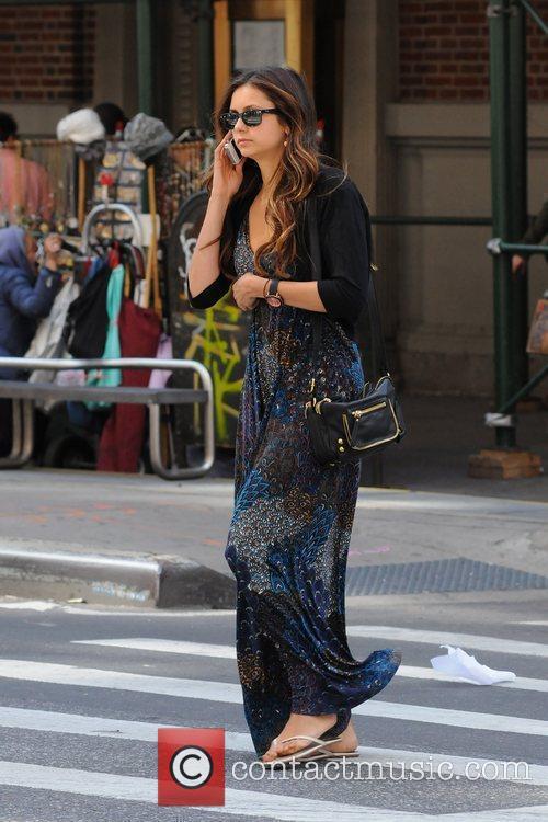 Nina Dobrev star of 'The Vampire Diaries' looking...