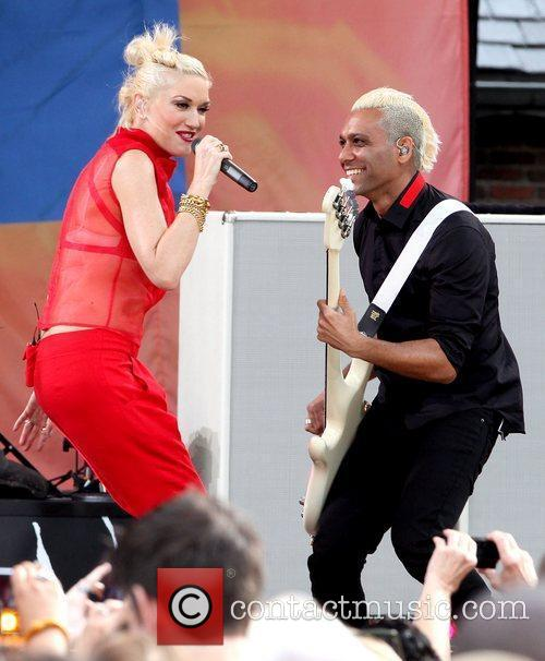 Gwen Stefani and Tony Kanal No Doubt performs...