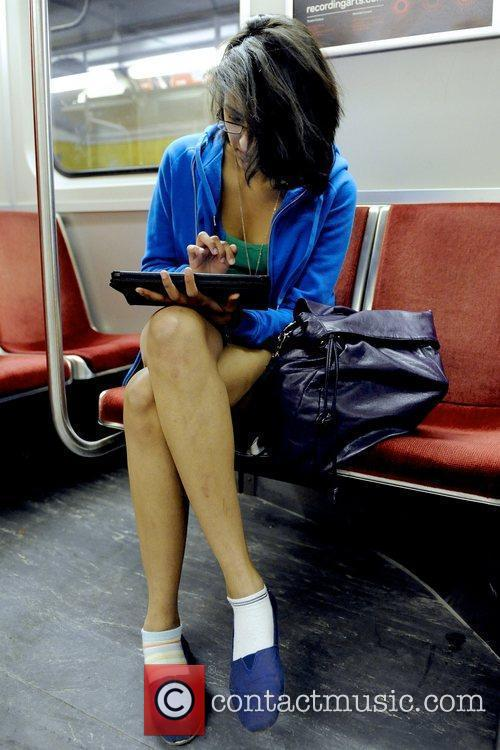 5th Annual No Pants Subway Ride in Toronto.