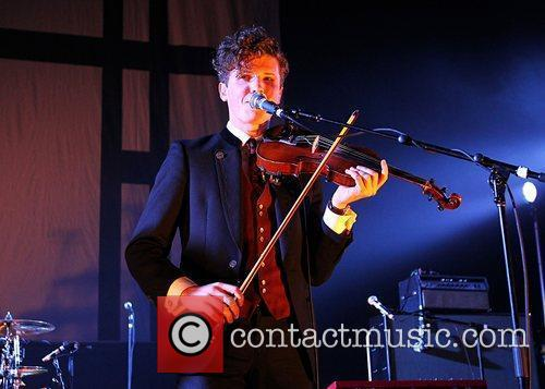 Tom Hobden of Noah & The Whale performing...