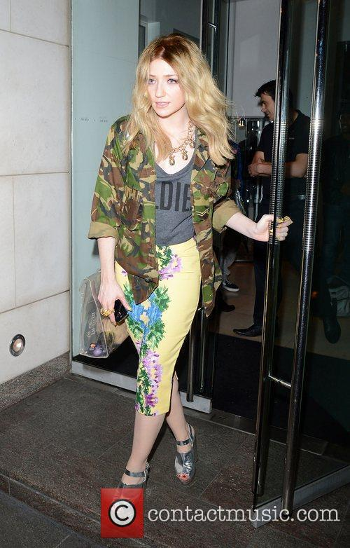 Nicola Roberts leaving Nobu London, England
