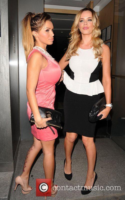Maria Fowler (right) at Nobu Restaurant London, England