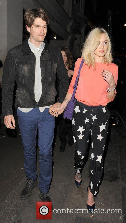 Fearne Cotton and boyfriend Jesse Wood leaving Nobu...