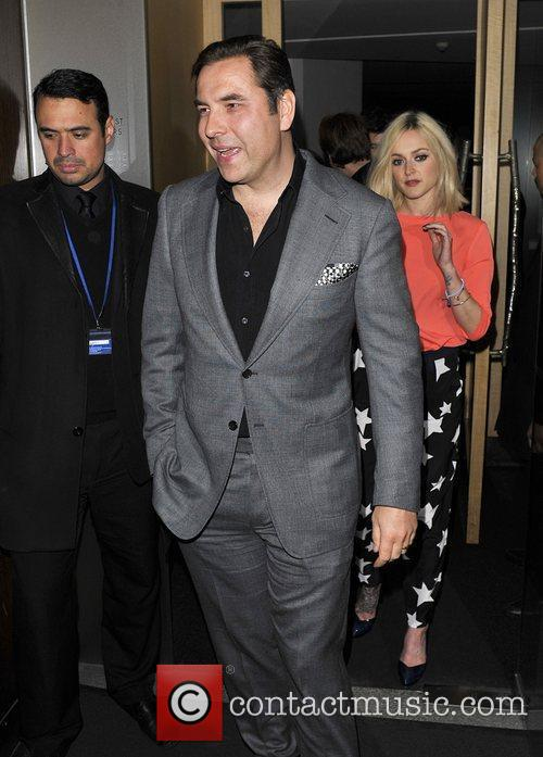 David Walliams and Fearne Cotton leave Nobu restaurant...