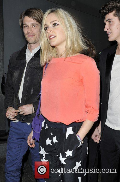 Fearne Cotton and Jesse Wood leave Nobu restaurant...