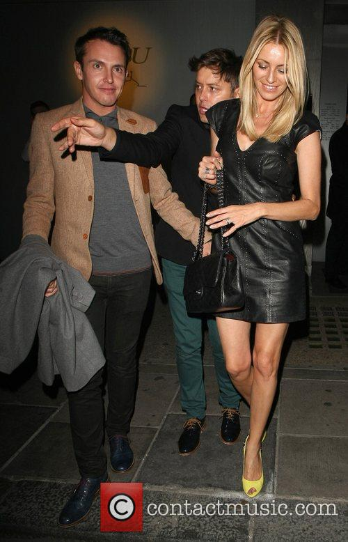 Tess Daly and Brian Dowling leave Nobu Berkeley...