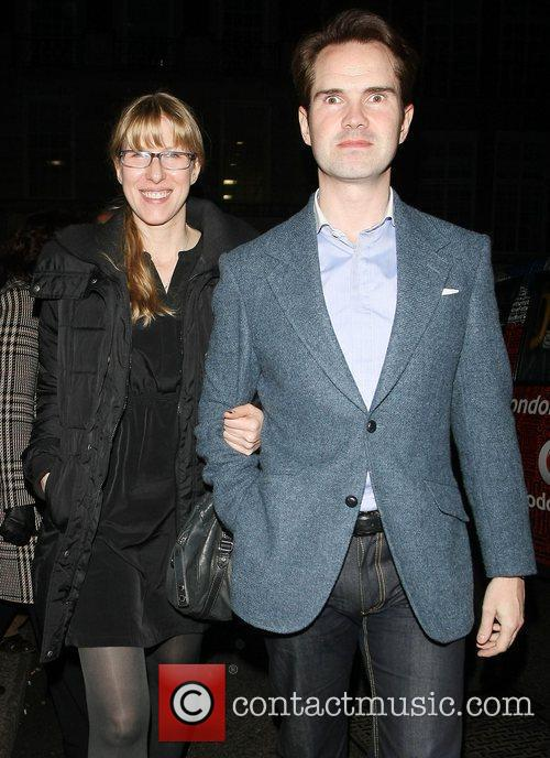 Jimmy Carr and Karoline Copping leaving Nobu restaurant...