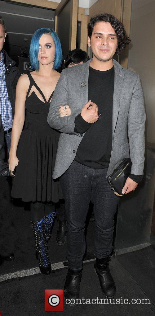 Katy Perry and Marcus Molinari leave Nobu Berkeley...