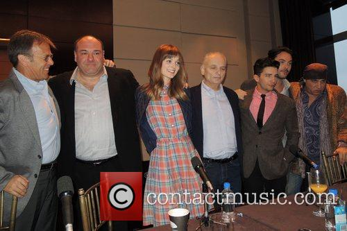 James Gandolfini, Bella Heathcote, Steve Van Zandt, David Chase, John Magaro, Jack Huston and Mark Johnson 3