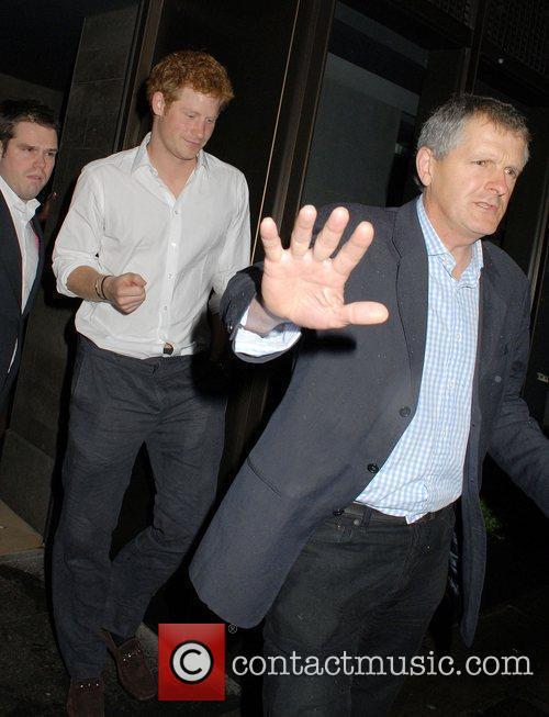 Prince Harry leaves Novikov restaurant and bar