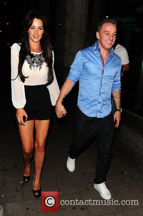 Danielle Lloyd and Jamie O'Hara leaving Novikov restaurant