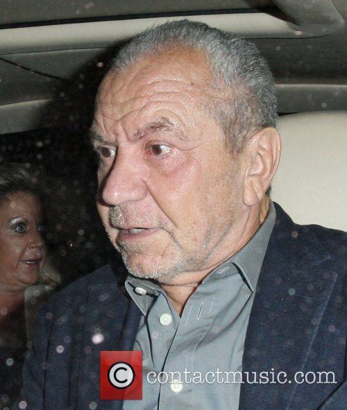 Lord Sugar leaving Novikov restaurant in Mayfair. London,...