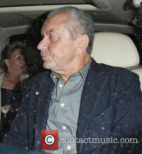 Lord Sugar leaving Novikov restaurant in Mayfair.