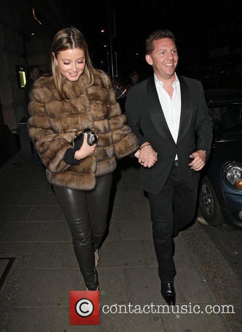 Holly Valance and Nick Candy leave Novikov restaurant...