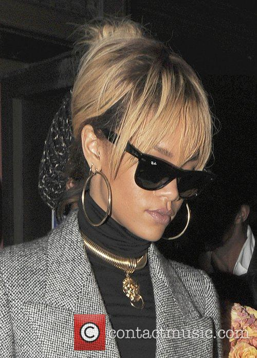 Rihanna leaving Novikov restautant in Mayfair.