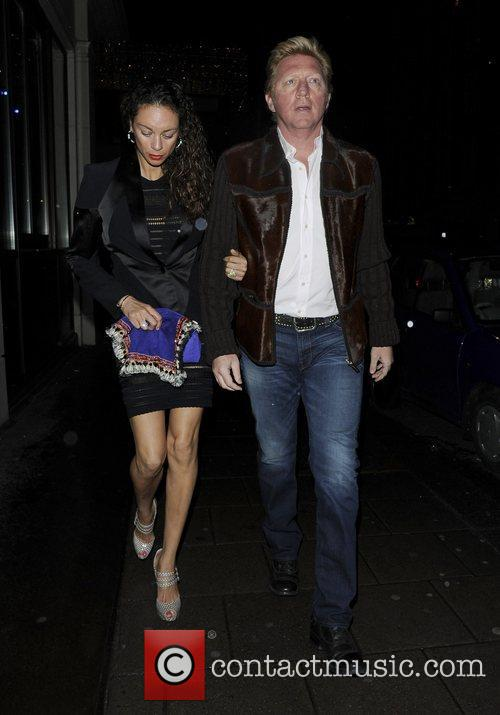 Boris Becker and his wife Lilly Kerssenberg arrive...