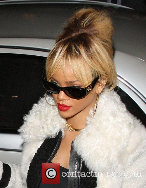 Rihanna arriving at Nozomi restaurant for her 24th...