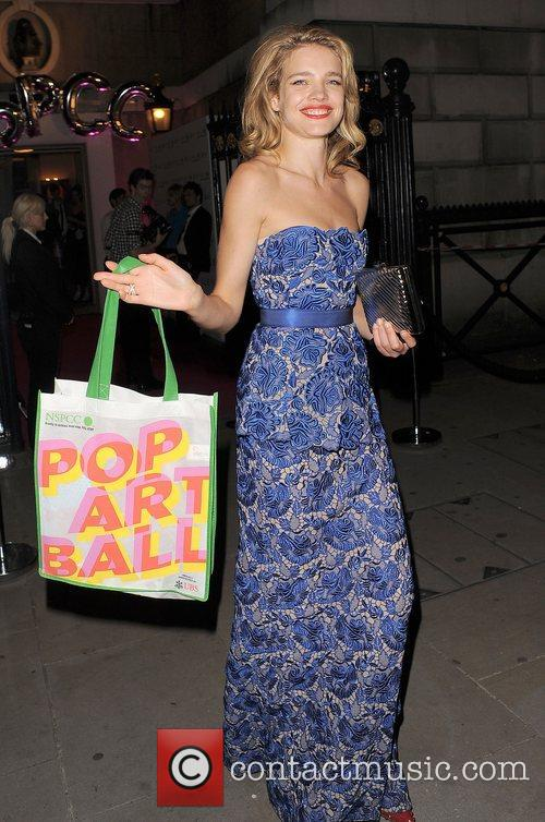 natalia vodianova nspcc pop art ball departures 3906305