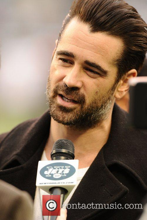 Colin Farrell  attending the New York Jets...